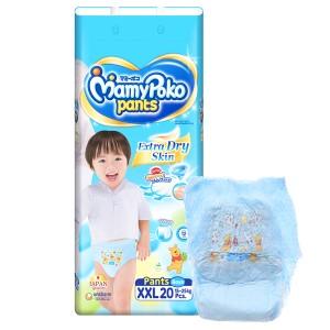 Tã quần Mamypoko Extra Dry Skin bé trai size XXL 20 miếng (cho bé 15 - 25kg)