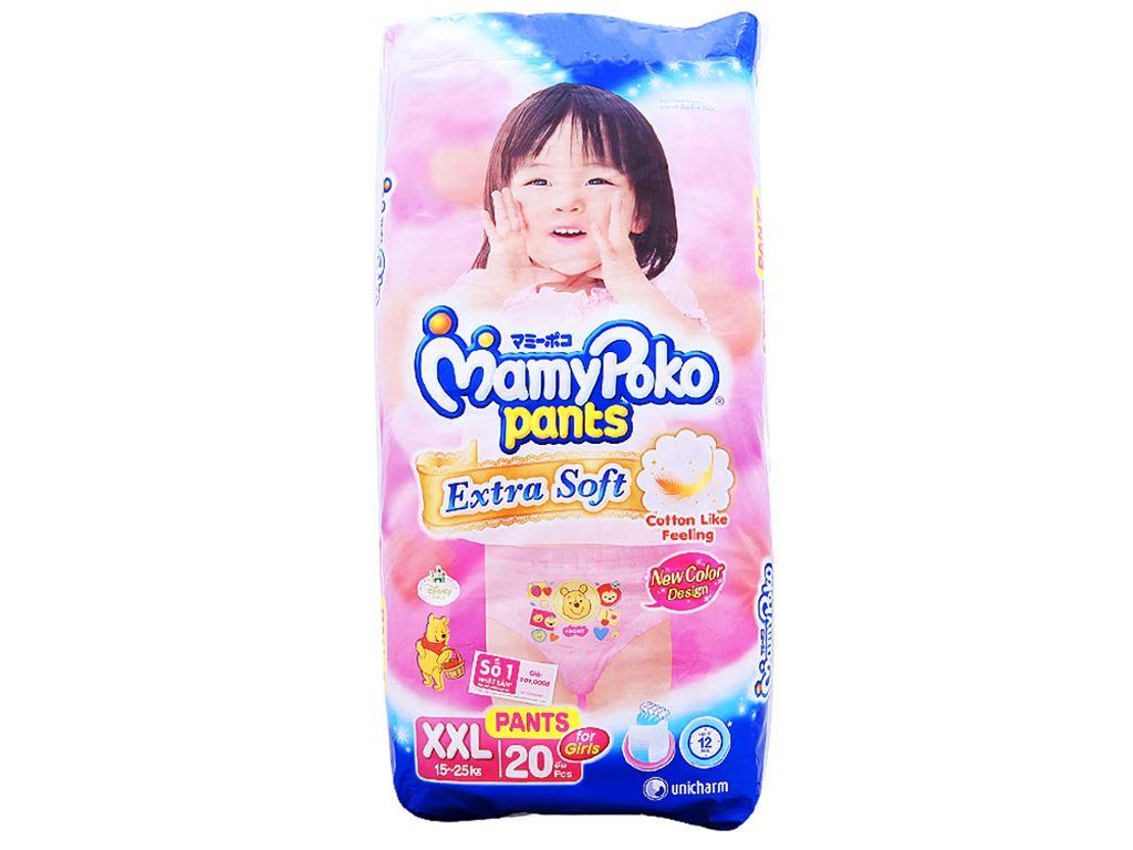 Tã quần Mamypoko Extra Soft bé gái size XXL 20 miếng (cho bé 15 - 25kg) 1