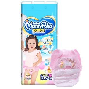 Tã quần Mamypoko Extra Dry Skin bé gái size XL 24 miếng (cho bé 12 - 17kg)