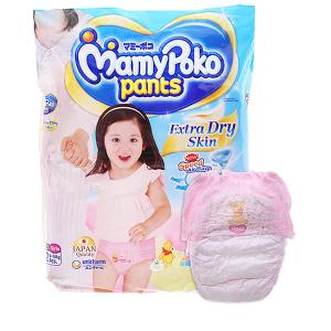 Tã quần Mamypoko Extra Dry Skin bé gái size L 52 miếng (cho bé 9 - 14kg)