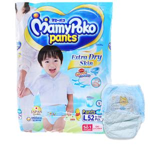 Tã quần Mamypoko Extra Dry Skin bé trai size L 52 miếng (cho bé 9 - 14kg)