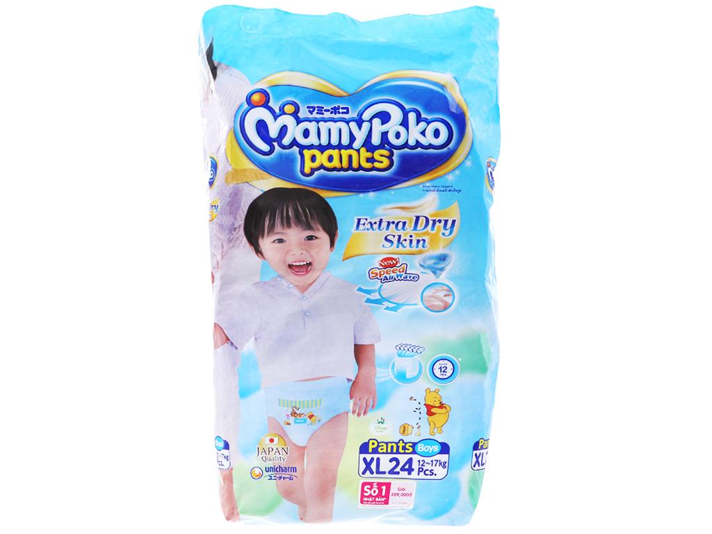 Tã quần Mamypoko Extra Dry Skin bé trai size XL 24 miếng (cho bé 12 - 17kg) 1
