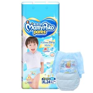 Tã quần Mamypoko Extra Dry Skin bé trai size XL 24 miếng (cho bé 12 - 17kg)