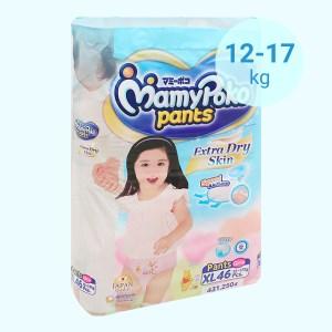 Tã quần Mamypoko Extra Dry Skin bé gái size XL 46 miếng (cho bé 12 - 17kg)