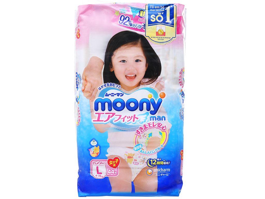 Tã quần Moony Man bé gái size L 44 miếng (cho bé 9 - 14kg) 1