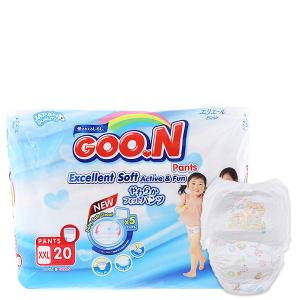 Tã quần Goon Excellent Soft Size XXL 15 - 25kg (20 miếng)