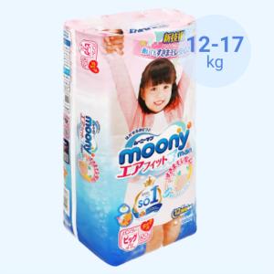 Tã quần Moony Man bé gái size XL 38 miếng (cho bé 12 - 17kg)