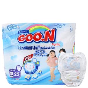 Tã quần Goon Excellent Soft Size XL 12 - 17kg (22 miếng)