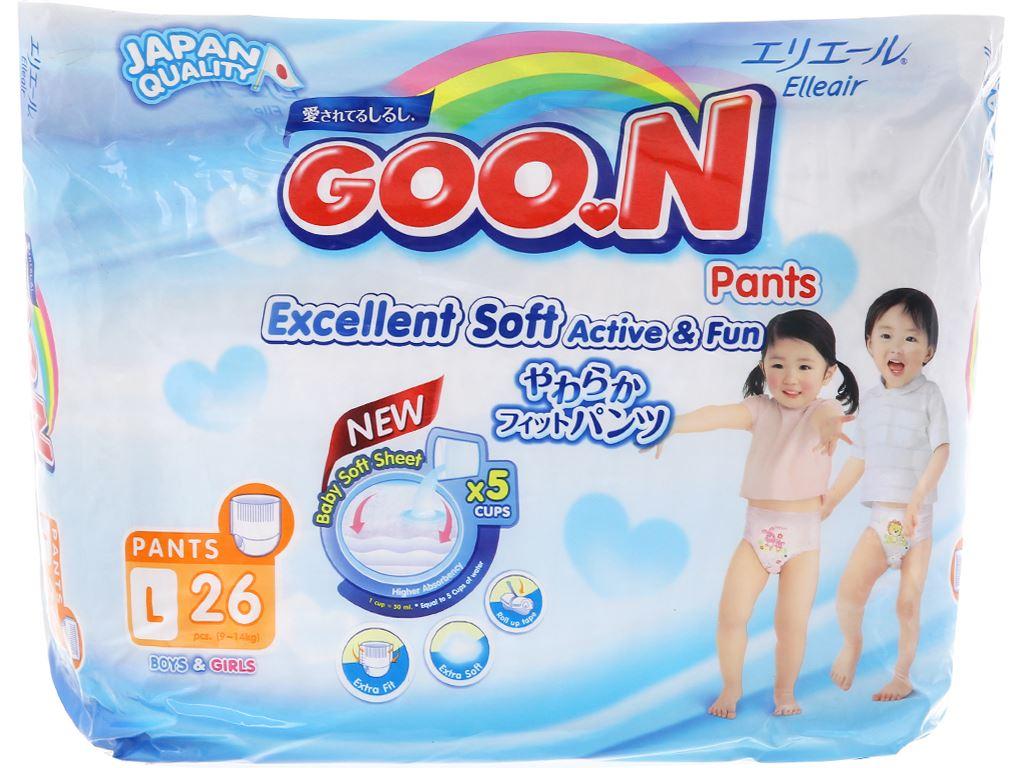Tã quần Goo.n Excellent Soft size L 26 miếng (cho bé 9 - 14kg) 1