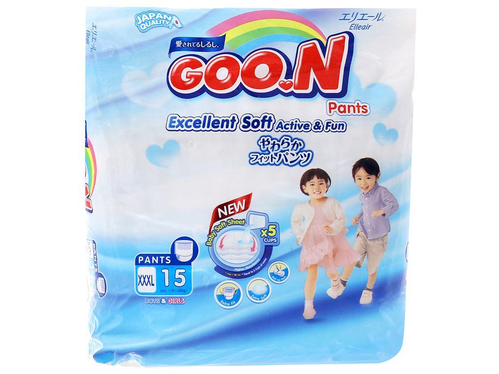 Tã quần Goo.n Excellent Soft size XXXL 15 miếng (cho bé 18 - 30kg) 1