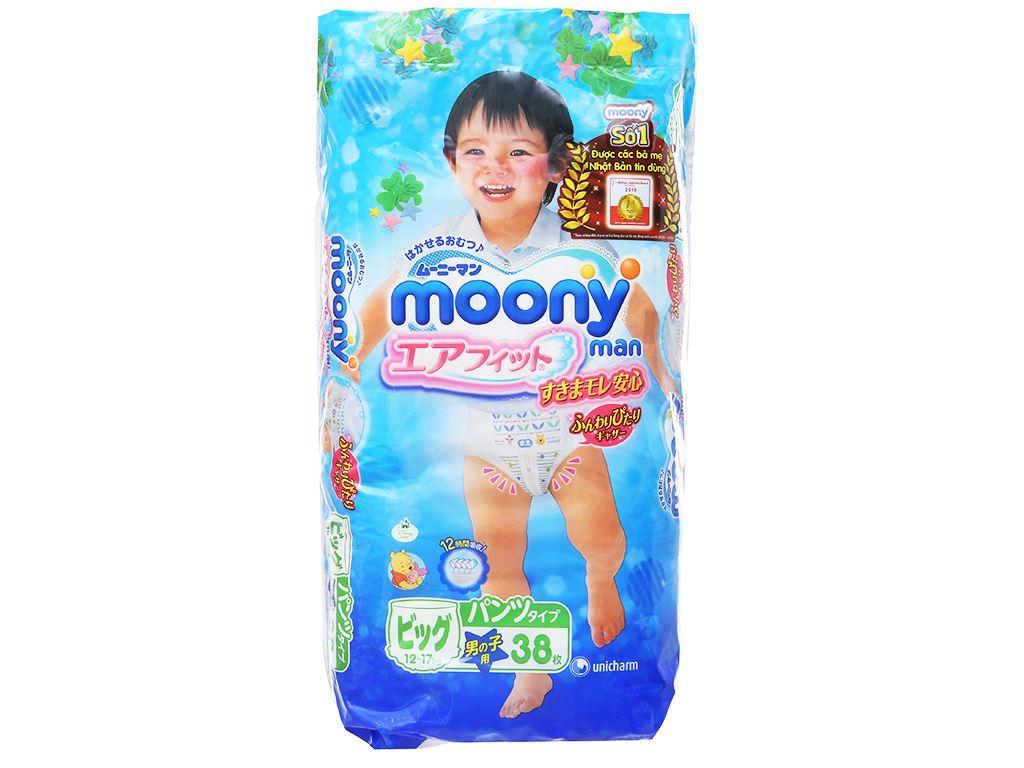 Tã quần Moony Man bé trai size XL 38 miếng (cho bé 12 - 17kg) 1