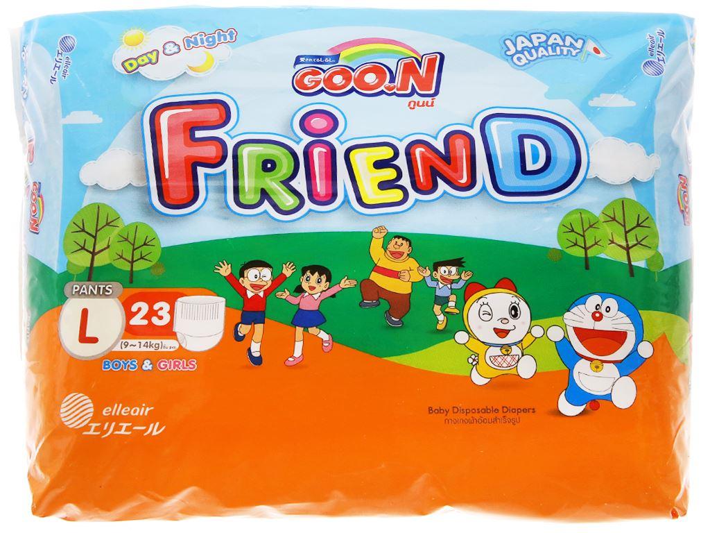 Tã quần Goo.n Friend size L 23 miếng (cho bé 9 - 14kg) 1