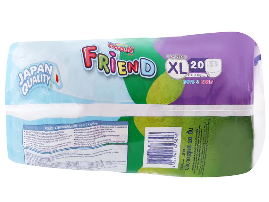 Tã quần Goo.n Friend size XL 20 miếng (cho bé 12 - 17kg) 3