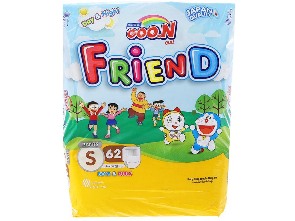 Tã quần Goo.n Friend size S 62 miếng (cho bé 4 - 8kg) 1