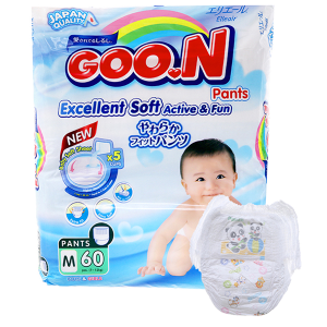 Tã quần Goon Excellent Soft size M 60 miếng (cho bé 7 - 12kg)
