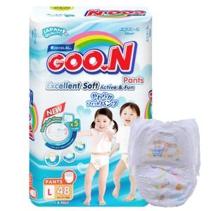 Tã quần Goo.n Excellent Soft size L 48 miếng (cho bé 9 - 14kg)