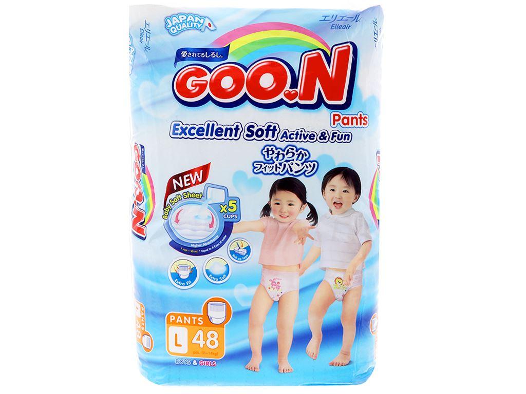 Tã quần Goo.n Excellent Soft size L 48 miếng (cho bé 9 - 14kg) 1