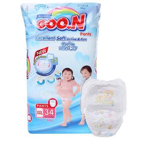 Tã quần Goon Excellent Soft size XXL 34 miếng (cho bé 15 - 25kg)