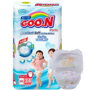 Tã quần Goo.n Excellent Soft size XXL 34 miếng (cho bé 15 - 25kg)