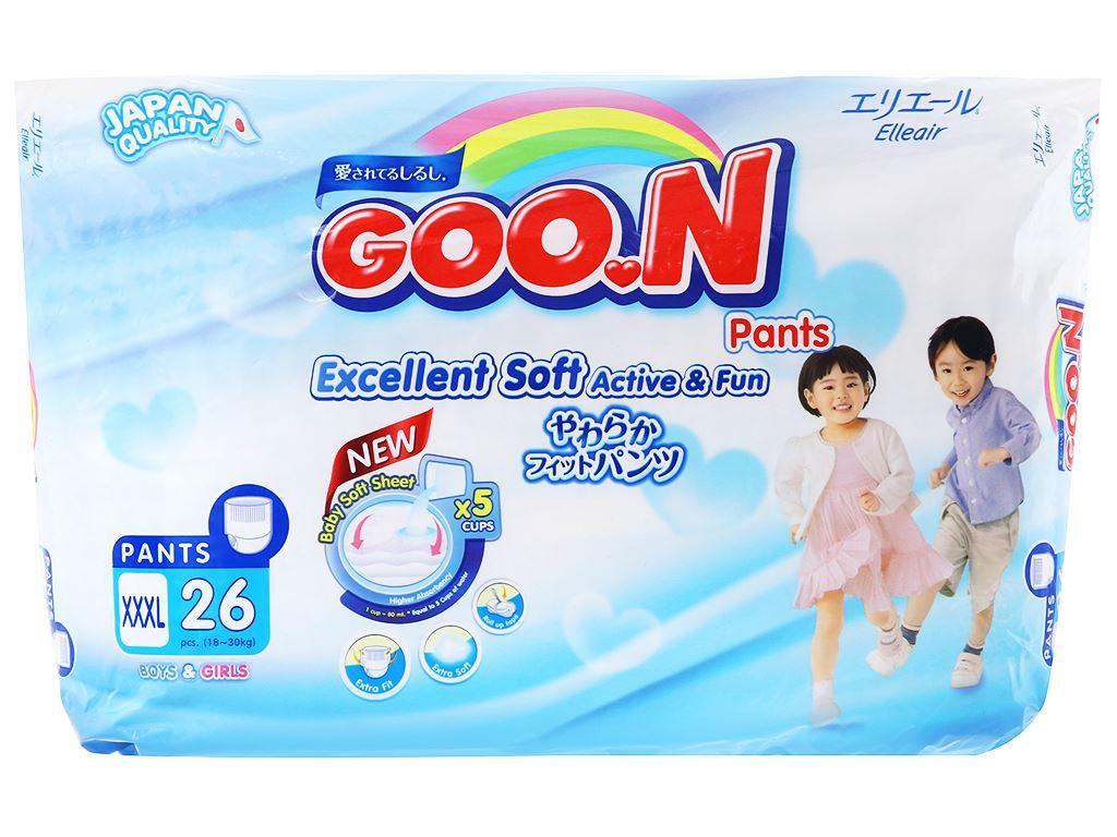 Tã quần Goon Excellent Soft Size XXXL 26 miếng (cho bé 18 - 30kg) 1