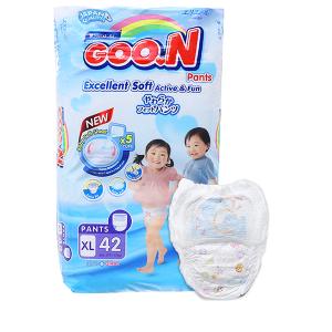 Tã quần Goon Excellent Soft size XL 42 miếng (cho bé 12 - 17kg)