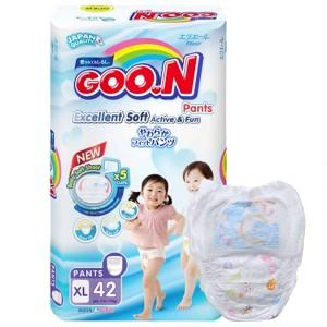 Tã quần Goo.n Excellent Soft size XL 42 miếng (cho bé 12 - 17kg)