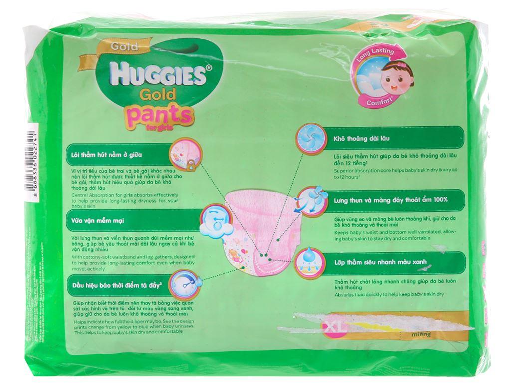 Tã quần Huggies Gold bé gái size XL 24 miếng (cho bé 12 - 17kg) 3