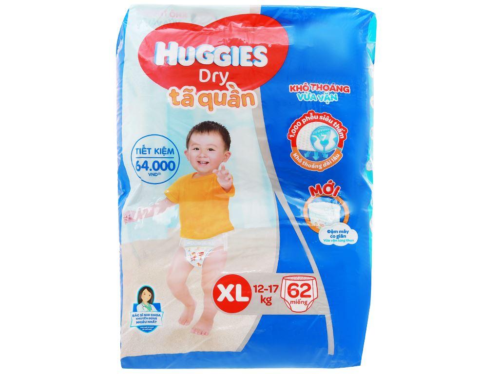 Tã quần Huggies Dry size XL 62 miếng (cho bé 12 - 17kg) 1