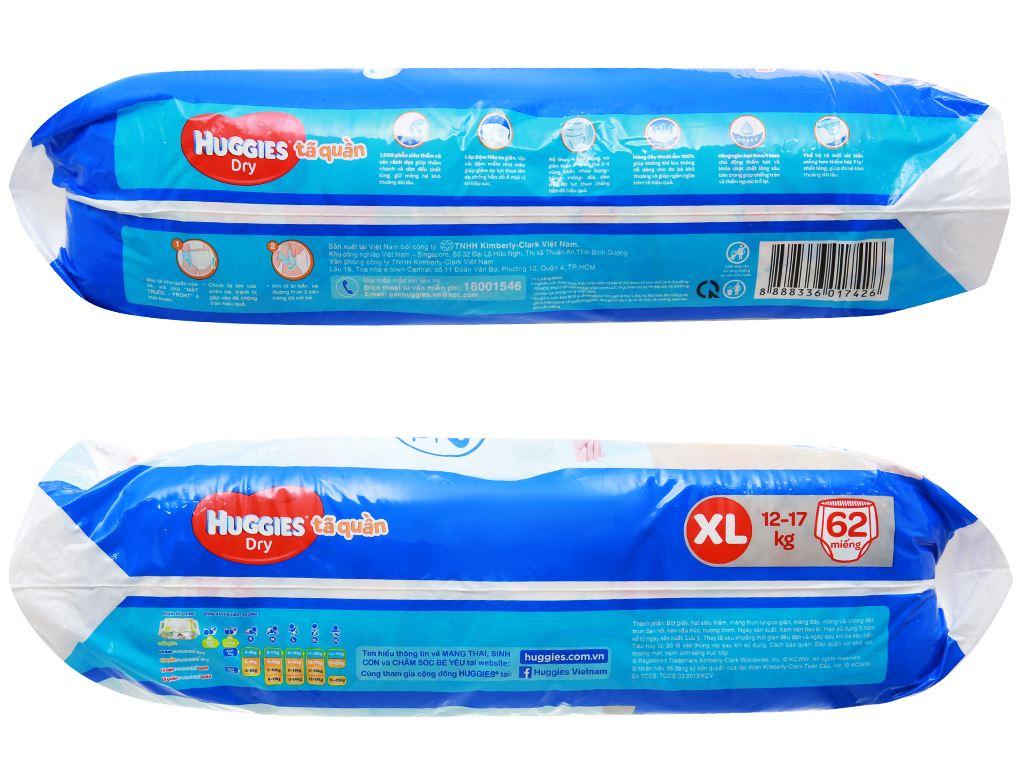 Tã quần Huggies Dry size XL 62 miếng (cho bé 12 - 17kg) 3