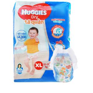 Tã quần Huggies Dry size XL 62 miếng (cho bé 12 - 17kg)
