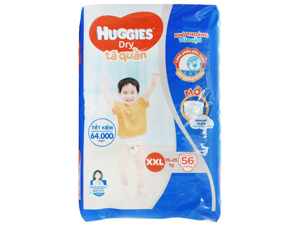 Tã quần Huggies Dry size XXL 56 miếng (cho bé 15 - 25kg) 1