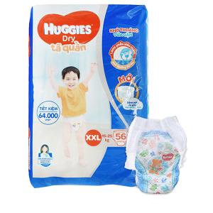 Tã quần Huggies Dry size XXL 56 miếng (cho bé 15 - 25kg)