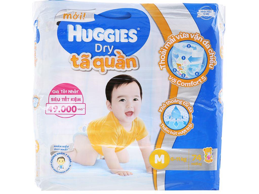 Tã quần Huggies Dry Size M 74 miếng (cho bé 6 - 11kg) 1
