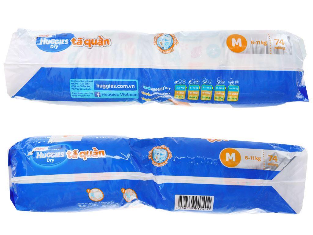 Tã quần Huggies Dry Size M 74 miếng (cho bé 6 - 11kg) 2