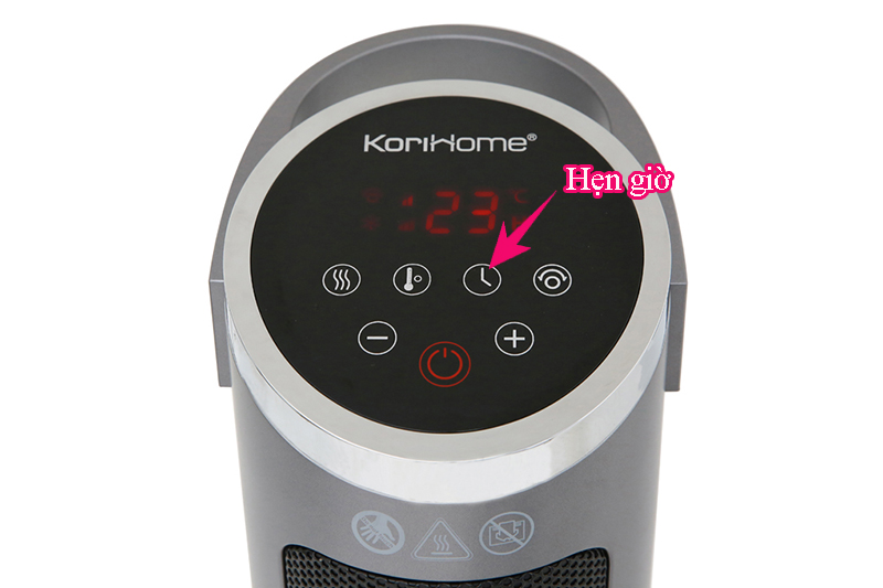 Hiện đại, dễ dùng - Quạt sưởi gốm Korihome EHK-102-S 2000 W