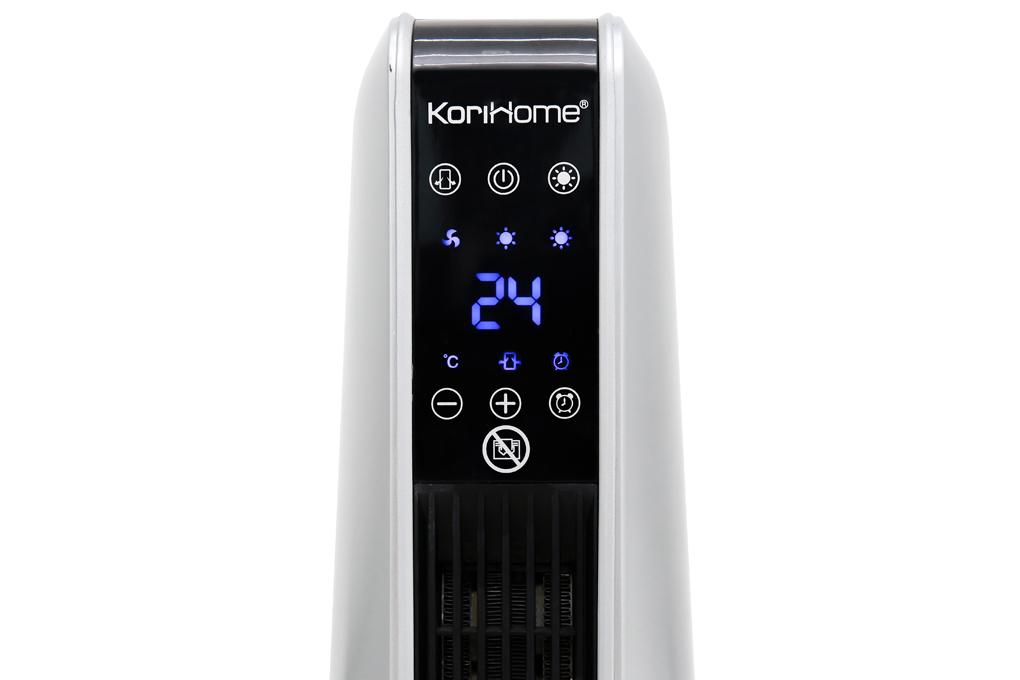 Điều khiển cảm ứng kèm màn hình hiển thị rõ nét, tiện theo dõi, tùy chỉnh - Quạt sưởi gốm Korihome EHK-362 2000 W