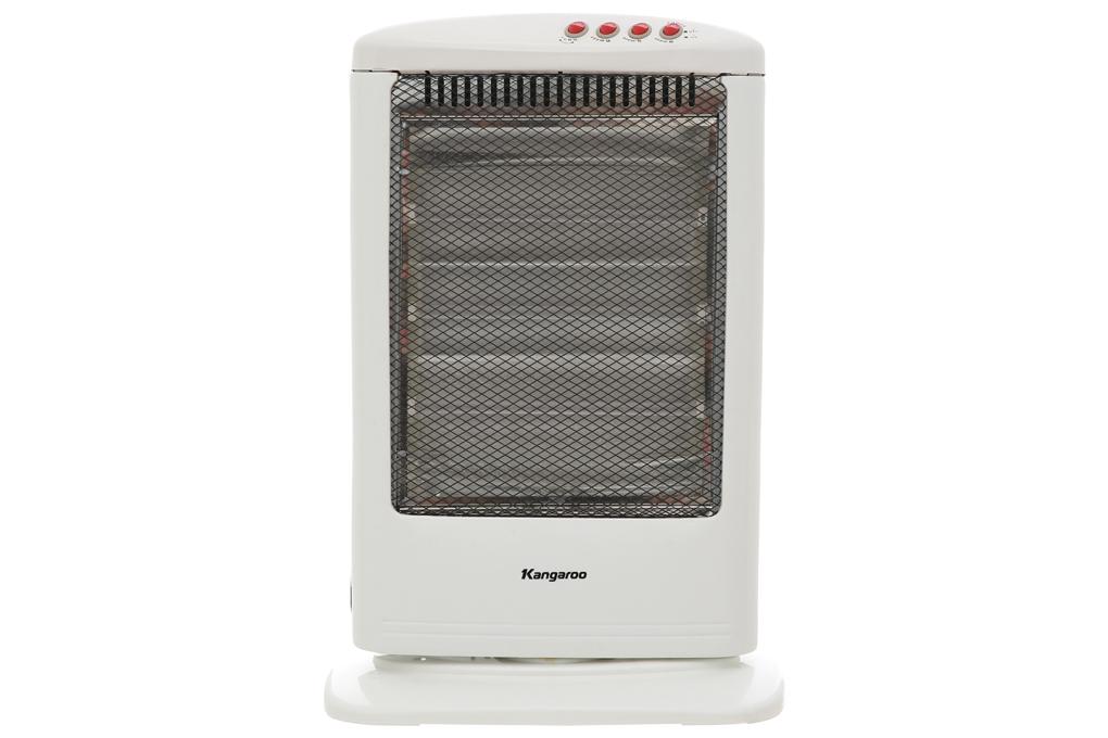 Có màu trắng nhẹ nhàng, dễ thương - Quạt sưởi halogen Kangaroo KG1012C-KG 1200 W