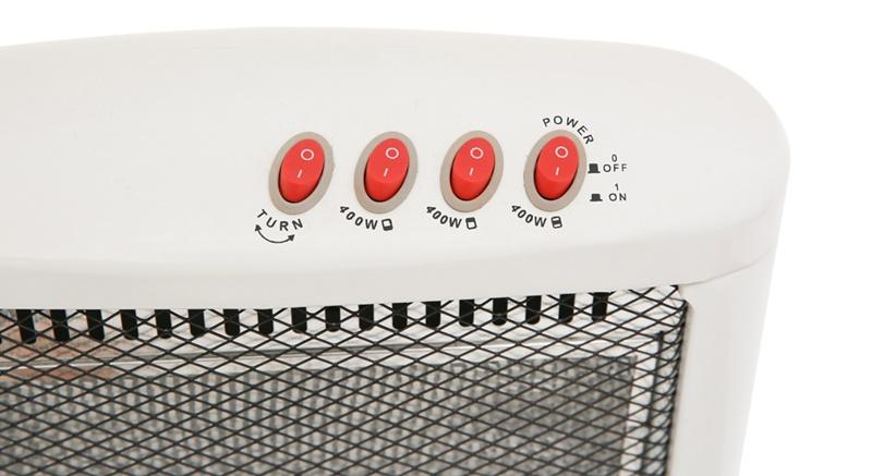 Dễ thao tác với bảng điều khiển nút nhấn đơn giản - Quạt sưởi halogen Kangaroo KG1012C-KG 1200 W