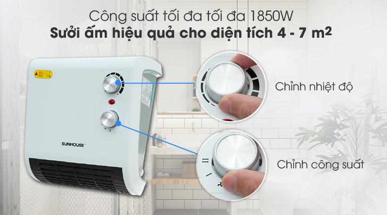 Hiệu quả - Quạt sưởi phòng tắm Sunhouse SHD3816W - KG