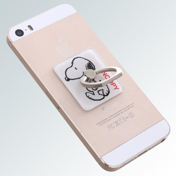 Móc dán điện thoại OSMIA RingCK039 Cún Trắng