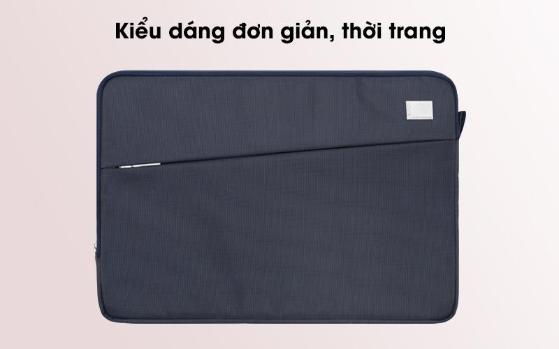 Túi chống sốc laptop 13 inch Jinya JA3006 xanh đen có thiết kế thời trang