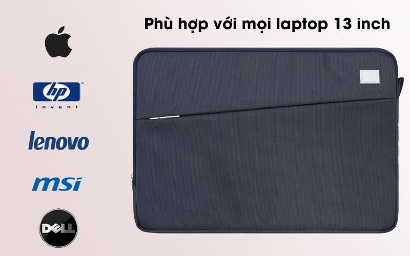 Túi chống sốc laptop 13 inch Jinya JA3006 xanh đen dành cho laptop 13 inch