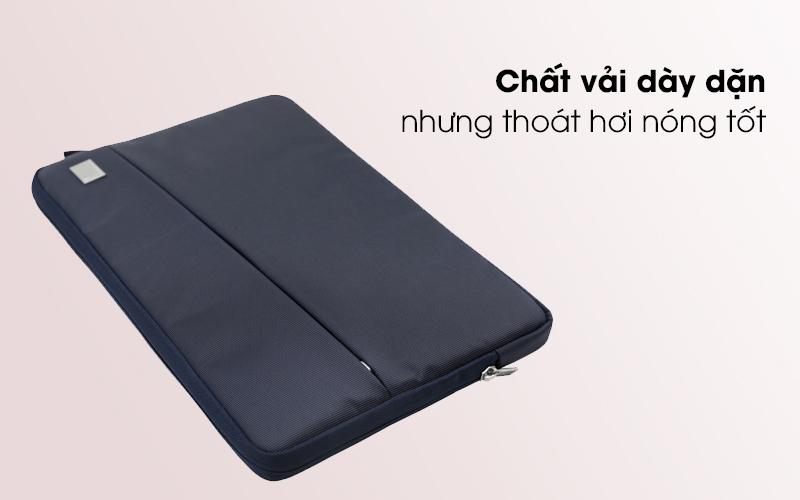 Túi chống sốc laptop 13 inch Jinya JA3006 xanh đen có lớp vải dày