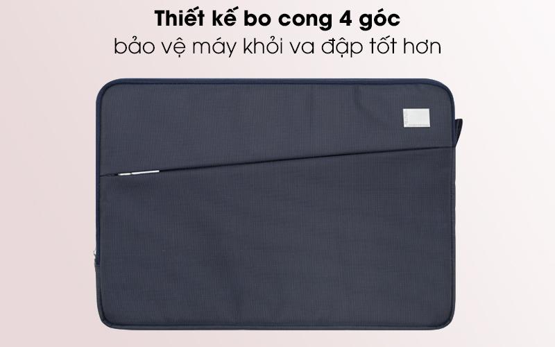 Túi chống sốc laptop 13 inch Jinya JA3006 xanh đen bo cong 4 góc