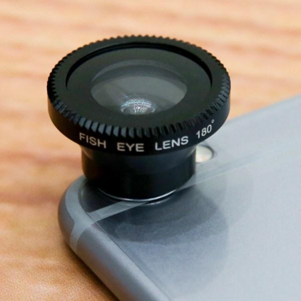 Ống kính cho điện thoại Nam châm 3 trong 1 Đen