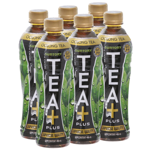 6 chai trà Ô Long Tea Plus 455ml