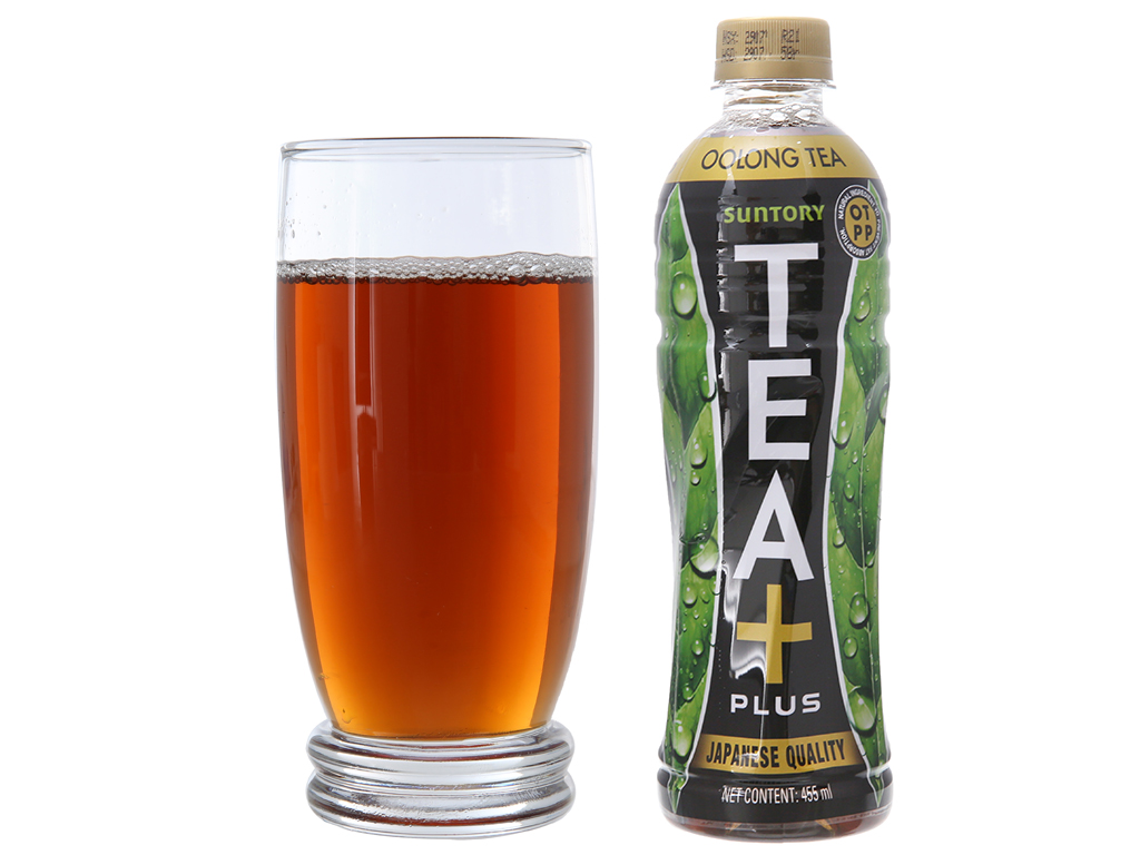 6 chai trà ô long Tea Plus 455ml 5