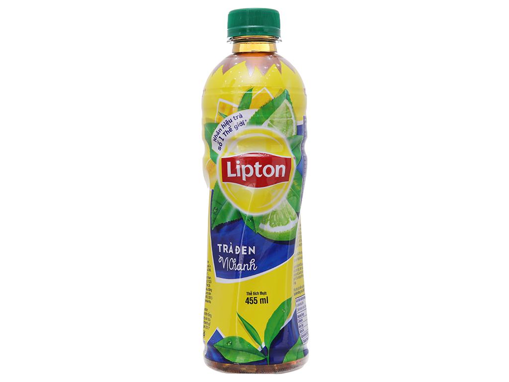 Thùng 24 chai trà đen Lipton vị chanh 455ml 2