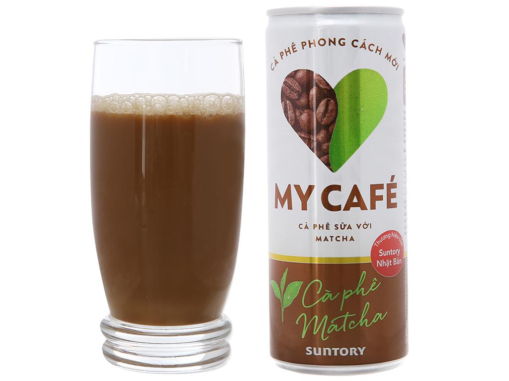 6 lon cà phê sữa My Café matcha 235ml 4