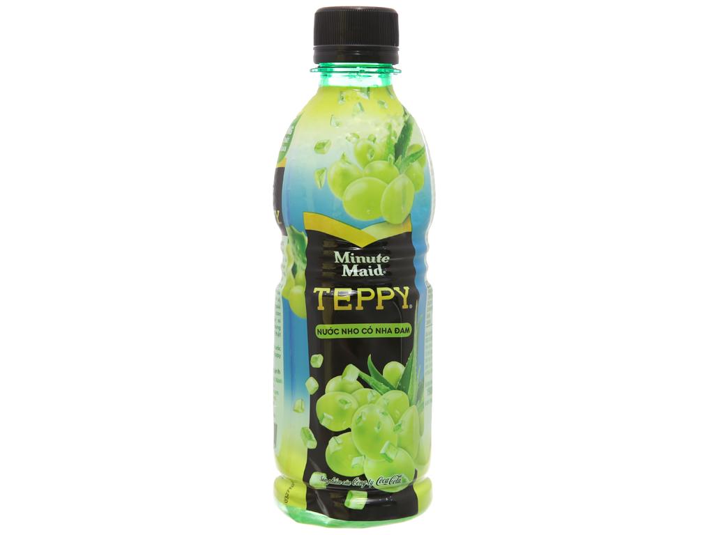 6 chai nước nho & nha đam Teppy 327ml 2